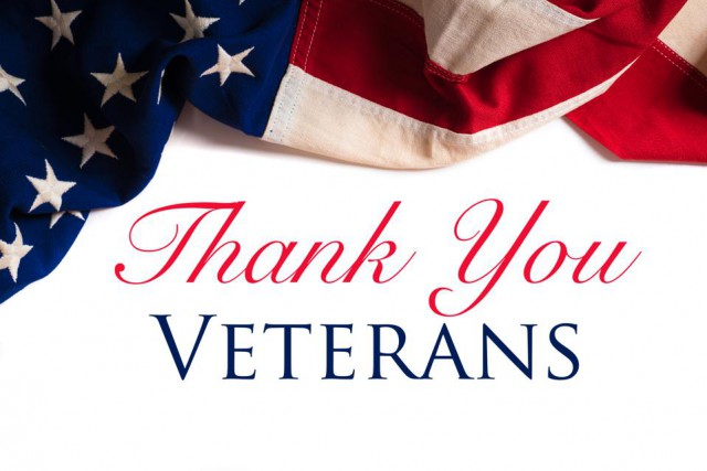 TO OUR VETERANS: THANK YOU FOR YOUR SERVICE!