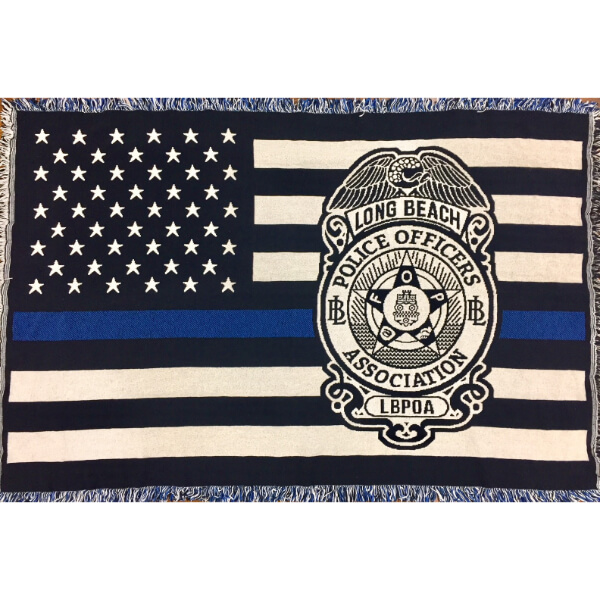 LBPOA Thin Blue Line Blanket